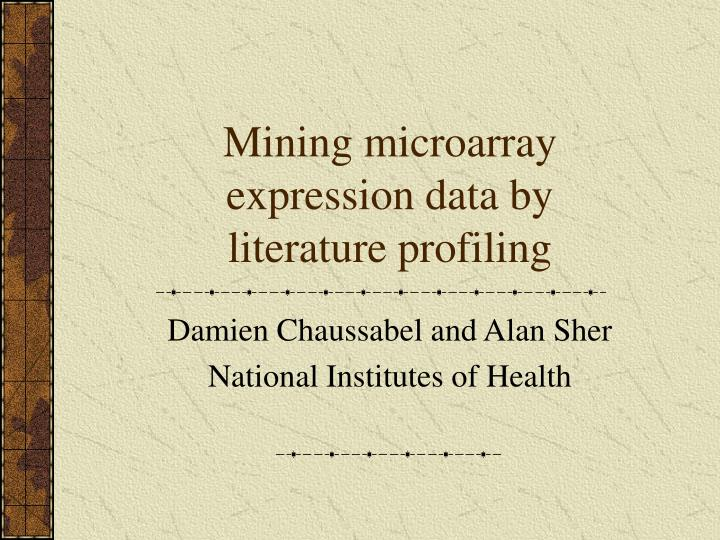 mining microarray expression data by literature profiling n.