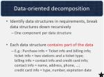 data oriented decomposition