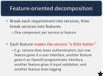 feature oriented decomposition