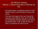 gel diffusion analysis method 1 determining rate of diffusion by eye