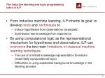 the inductive learning and logic programming sides of ilp