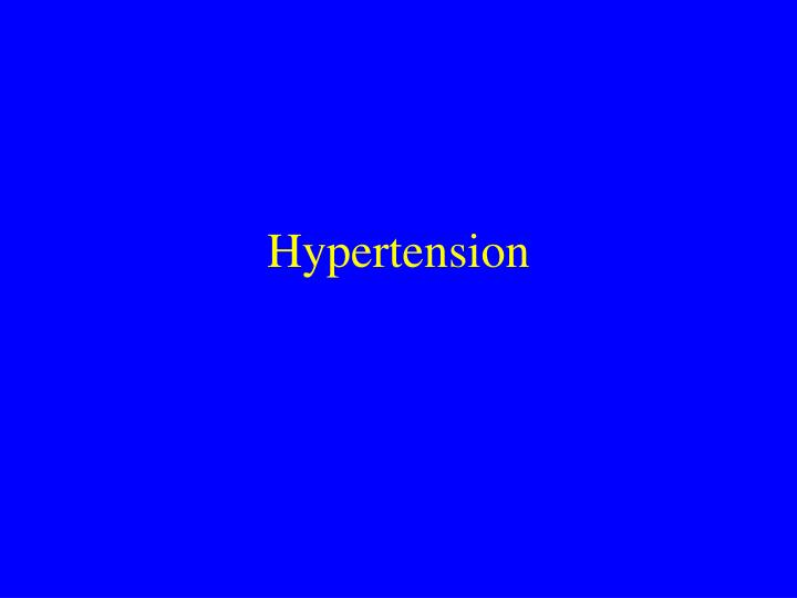hypertension n.