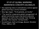 07 07 07 global warming awareness concerts globally