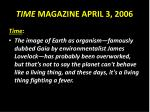 time magazine april 3 2006