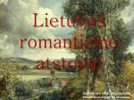 lietuvos romantizmo atstovai