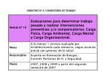 directriz n 4 condiciones de trabajo6