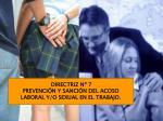 directriz n 7 prevenci n y sanci n del acoso laboral y o sexual en el trabajo