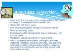 about mrs schreckler