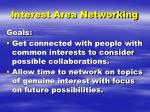 interest area networking