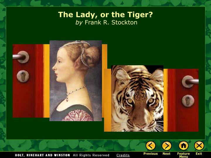 the lady or the tiger by frank r stockton n.