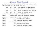 control word example