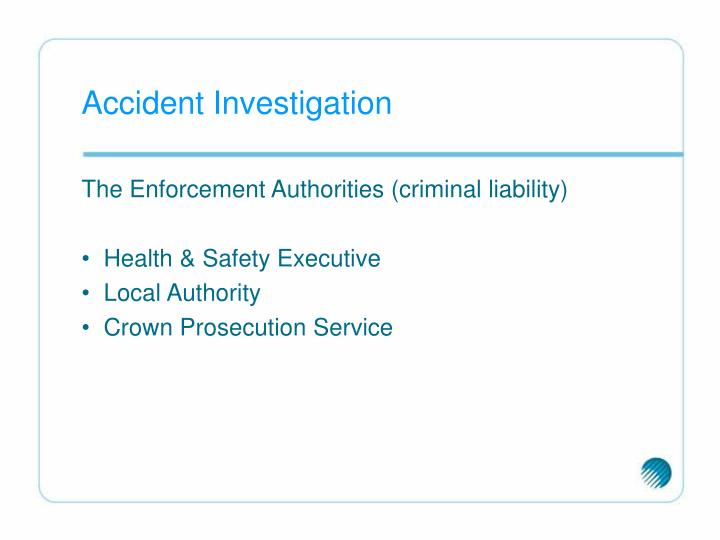 Accident Investigation
