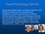 peace psychology defined