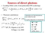 sources of direct photons