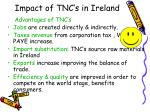 impact of tnc s in ireland1