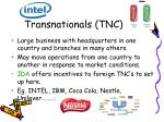 transnationals tnc