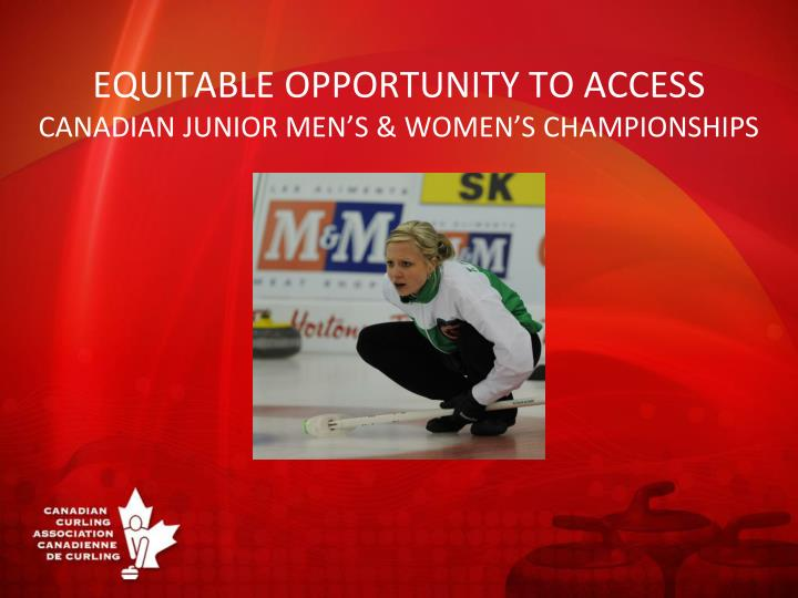 equitable opportunity to access canadian junior men s women s championships n.