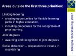 areas outside the first three priorities