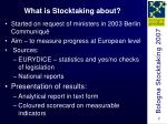 what is stocktaking about