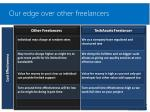our edge over other freelancers1