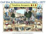 civil war reconstruction 1861 1877