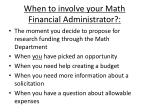 when to involve your math financial administrator