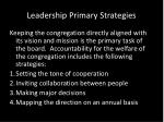 leadership primary strategies