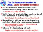 the int l telecoms market in 2005 some educated guesses