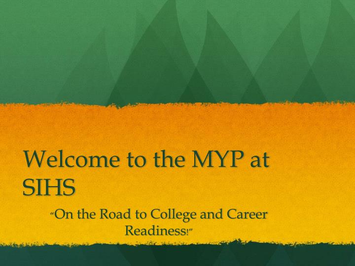 welcome to the myp at sihs n.