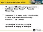 myth 1 massive real estate bubble