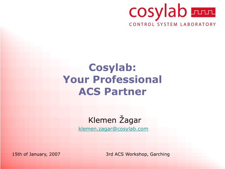 cosylab your professional acs partner n.