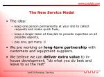 the new service model