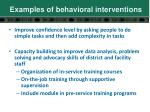 examples of behavioral interventions