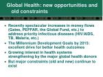 global health new opportunities and old constraints