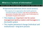 what is a culture of information