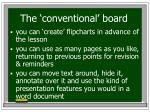 the conventional board