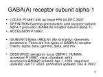 gaba a receptor subunit alpha 1
