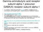 gamma aminobutyric acid receptor subunit alpha 1 precursor gaba a receptor subunit alpha 1
