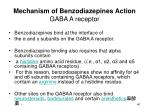 mechanism of benzodiazepines action gaba a receptor