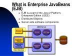 what is enterprise javabeans ejb