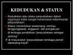 kedudukan status