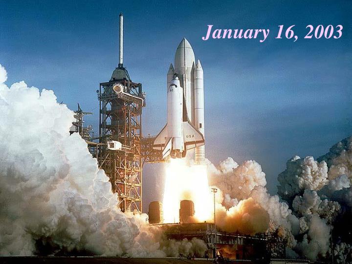 January 16, 2003