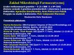 zak ad mikrobiologii farmaceutycznej