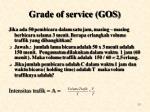 grade of service gos1