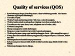 quality of services qos