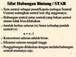 sifat hubungan bintang star