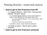 planning heuristic means ends analysis