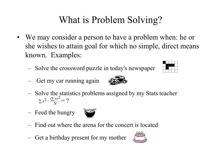what is problem solving n.