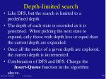depth limited search