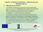 umowa o dofinansownie zobowi zania beneficjenta17